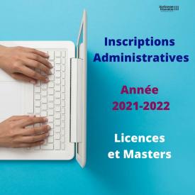 [RAPPEL] 🔴 Les inscriptions administratives à la Sorbonne Nouvelle pour l'année universitaire 2021-2022 se terminent lundi 4 octobre pour les #Licences et lundi 11 octobre pour les #Masters. 🗓 Retrouvez le calendrier détaillé et les étapes pour vous inscrire : https://bit.ly/3D3Mmmp