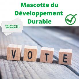 🗳Votez pour la future mascotte Développement Durable de la Sorbonne Nouvelle !  🌱Trois mascottes vous sont proposées, pour le moment, à l'état d'ébauche. L'université développera celle qui remportera le vote.  👉 Vous pouvez voter jusqu'au 15 novembre via le lien dans la bio