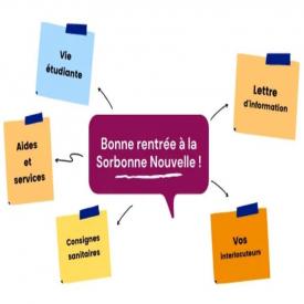 Bonne rentrée à la Sorbonne Nouvelle ! 😃 Découvrez toutes les informations utiles pour votre rentrée universitaire : les guides de rentrée, les différents interlocuteurs, l'ENT iSorbonne, la lettre d'information mensuelle, etc. 📌 https://bit.ly/3kv1AdX